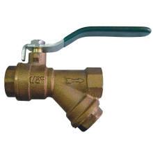Robinet à tournant sphérique en bronze avec le prix du filtre (BW-Q08)