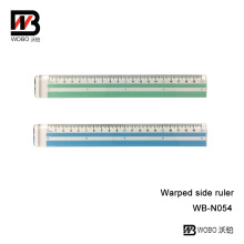 UV Paint PS Plastic Ruler with Handle for Office Stationery