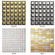 Mosaïque en céramique d'or pour mur