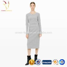 Lã de caxemira barato saia longa apertada para mulheres
