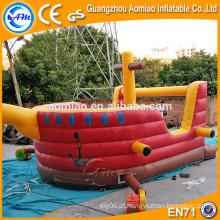 Crianças inflável bouncer casa inflável navio pirata vendas