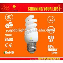11W T3 skd completo espiral Mini poupança de energia lâmpada 10000H CE qualidade