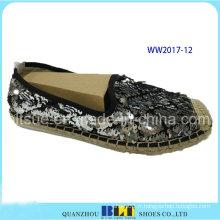 Nouveau Design Paillette Upper Brand Casual Chaussures