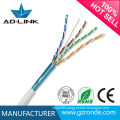 Made in China networking cable solid bare copper ftp cat5e twisted cable with CE RoHs FCC UL Certifications