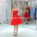 2017 Best Price New Fashion Off-Shoulder Sequins Short Puffy Red Evening Dress