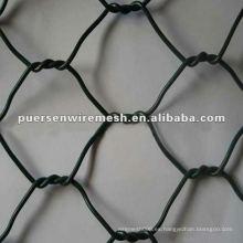 Fabricación de red de alambre hexagonal de torsión positiva