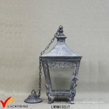 Retro metal claro vidrio linterna eléctrica colgante de luz