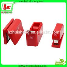 Papelaria ajustável agrafadora dispensador de fita adesiva, punho gravador de escritório