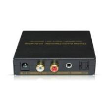 Decodificador de audio digital a analógico con el conmutador Spdif / Toslink 3X1