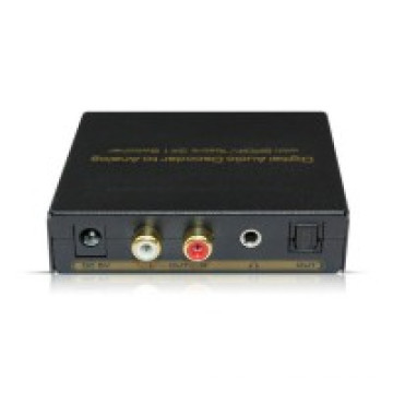 Décodeur audio numérique vers analogique avec sélecteur Spdif / Toslink 3X1