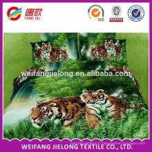 100% polyester disperser l'impression animal imprimé drap de lit tissu 3D drap de lit tissu disperser impression polyester draps ensembles