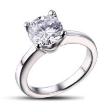 Chirurgischer Stahl Hochzeit Ring / CZ Stein Ring