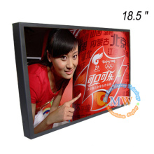 1366X768 resolución monitor de video digital de 18.5 pulgadas para publicidad comercial