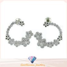 Bijoux de qualité et bijoux de mode pour femme 925 boucles d'oreille en argent sterling (E6481)