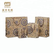 Kraftpapier Geschenk Verpackung benutzerdefinierte kreative Paisley Print Papiertüte