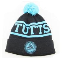 Beanie Hüte schwarz geprägt mit unserem Logo