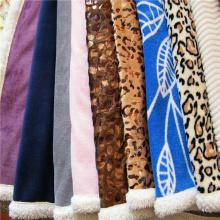 Вельветовое и принтованное коралловое композитное одеяло