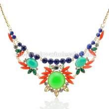 Sonnenschein Form Oval Stone Charms klassische Kette Halskette