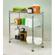 Chrome Living Room Metal Wire Rack (CJ602090B3C)