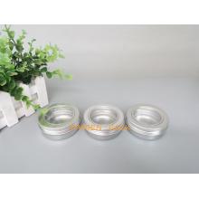 60g Prata pote de alumínio com tampa da janela para embalagem de alimentos (PPC-ATC-60)