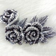 la flor de resina artificial más caliente de la parte posterior plana del grado florece