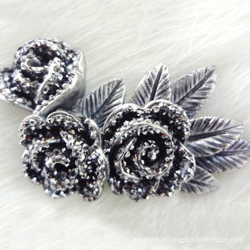 hottest flat back grade silicone beads artificial resin flower