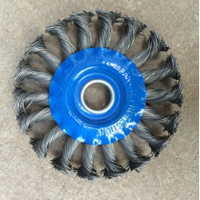 4inch Steel Wire Wheel Brush with Blue Plate (YY-592)