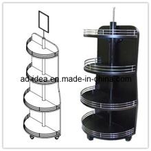 180 Degree MDF Floor Wooden Wine Display Stand