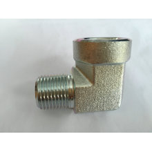 Machine Part Hydraulic Elbow Connection Fitting