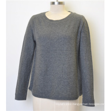 Custom Round Neck Pure Color Knit Pullover Women Sweater