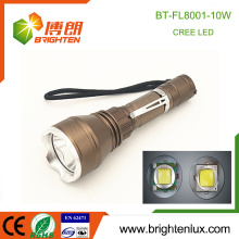 Factory Outlet 3 Modes Light Handheld Aluminium Cree xml t6 10w led Tactical Best La plus puissante torche torche rechargeable