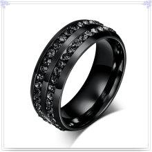 Joyería cristal accesorios de moda anillo de acero inoxidable (SR157)