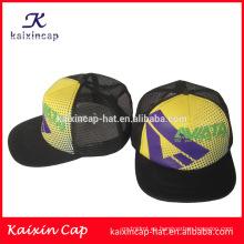 De alta calidad ponga su propio logotipo personalizado ala plana camionero sombreros