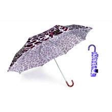 Parapluie manuel compact en aluminium de peau de crocodile (YS-3FM21083947R)