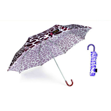 Crocodile Skin Compact Manual Aluminum Umbrella (YS-3FM21083947R)