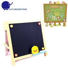 Crianças Home madeira pequena Black Magnet Chalk board