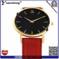Yxl-061 рекламные горячей продажи кожа часы Мужская мода Япония движение моды наручные часы индивидуальный дизайн мужские часы