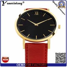 Yxl-061 Promotional Hot Sale Leather Watch Mens Vogue Japan Movement Fashion Wrist Watch Custom Design Men′s Watch