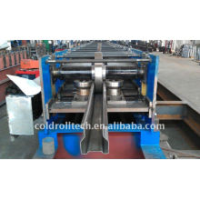 Rack roll forming machine for upright beam