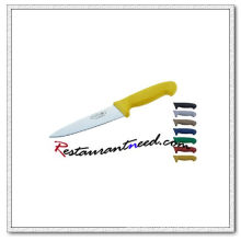 Couteau U386 avec poignée en plastique jaune