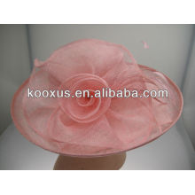Nuevo sombrero Plain Sinamay al por mayor para las mujeres de la Iglesia