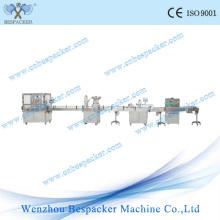 Автоматического стеклянного Опарника покрывая машина Завалки линия упаковки маркировки