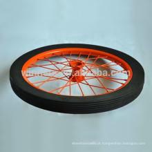 Roda de borracha contínua de 20 polegadas rodas de carroça decorativa roda de reboque de rodas raio
