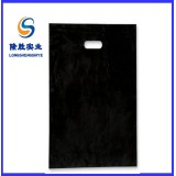 black plain die cut poly bag