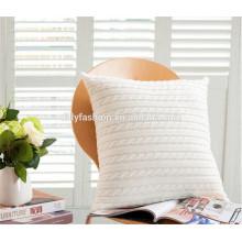 Cobertura de almofada de caxemira branca em casa de moda 2015