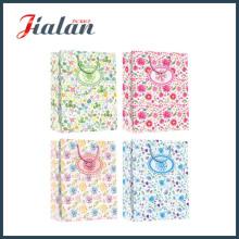 Natürliche frische Blumen Baumwolle Griff Seil Retail Papier Schokolade Tasche