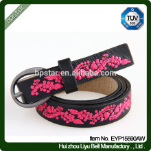 Genuine Leather Belt Embroidery for Female Dress Jeans Strap Cintos de couro Fashion Women Ceinture