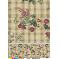 China LFGB PVC Printed Tablecloth/Oilcloth with Nonwoven/Flannel Backing