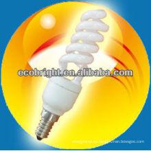 super Mini media espiral 7mm 8000H CE calidad de la lámpara de ahorro de energía