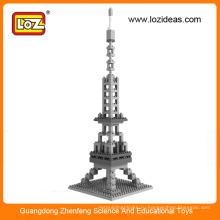 Эйфелева башня всемирно известной архитектуры кубический весело 3D головоломка
